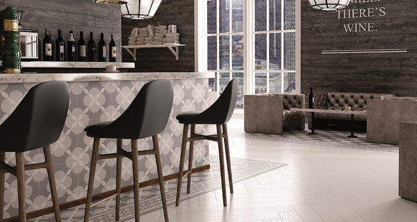 Atelier Geo Glazed Porcelain Tiles in a Restaurant