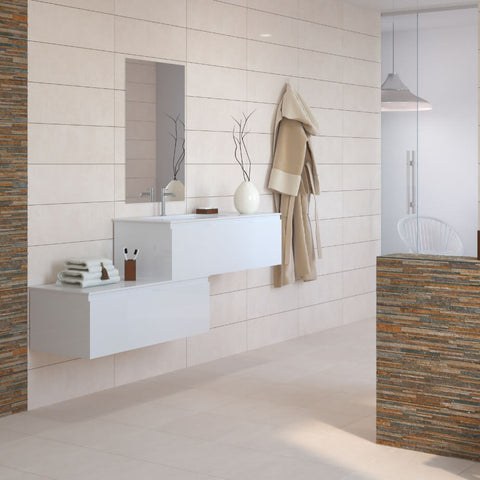 Avon Cream Tiles on Modern Bathroom Floor and Walls