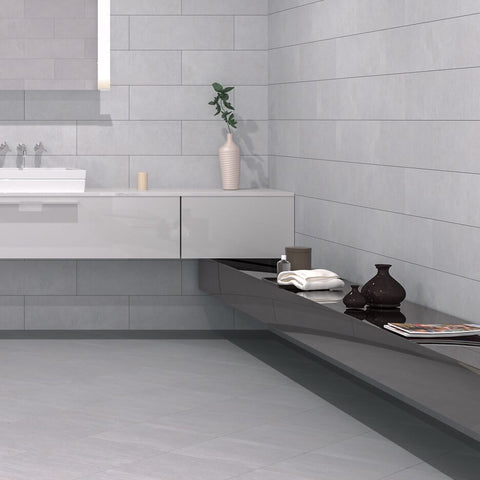 Avon Perla Ceramic Tiles in Modern Bathroom