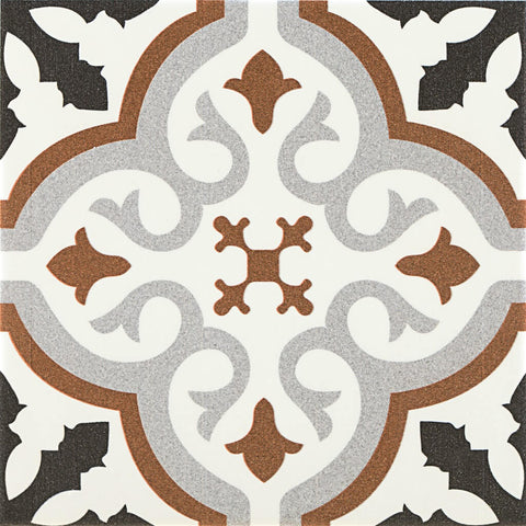 Balmoral Marron Patterned Wall and Floor Tile