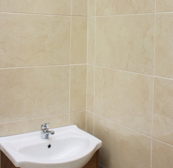 Cream Wall Tiles With A Beautiful Marble Effect Tile Devil