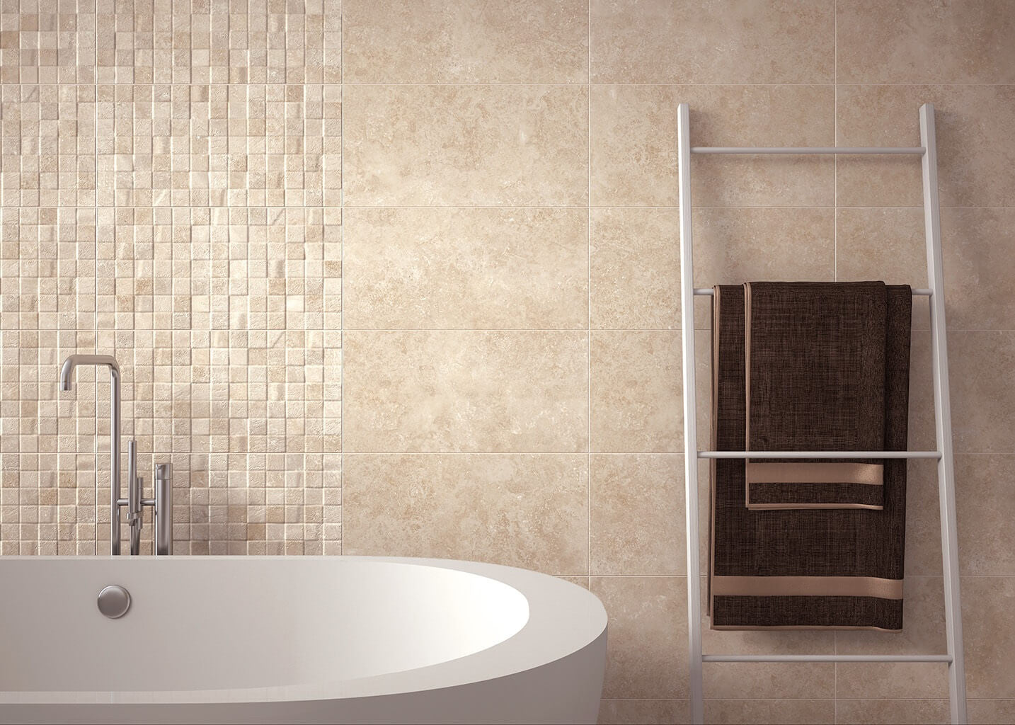 Ceramic Tiles for Kitchens & Bathrooms in Gorgeous Cream