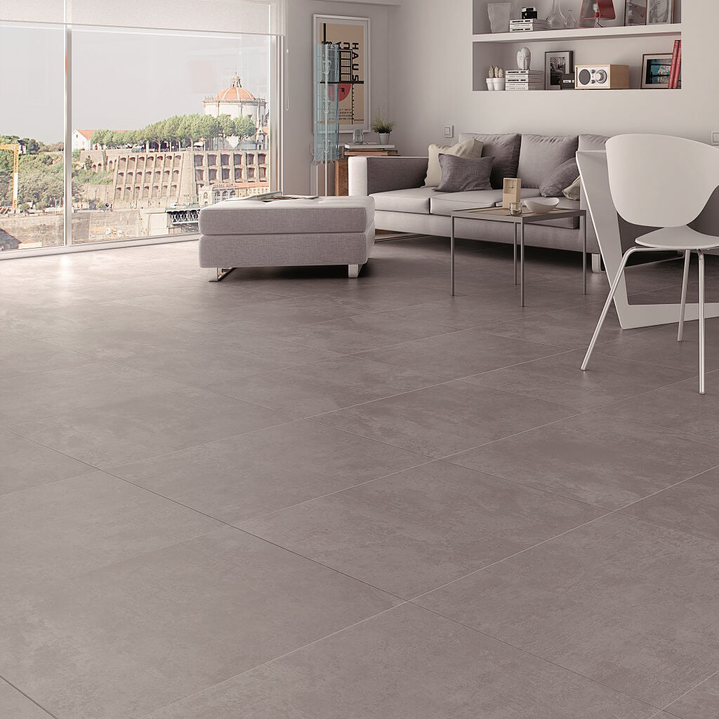 Urban Cement Grey Stone Effect Ceramic Wall Floor Tile: Grey Floor Tiles In Stunning Cement Effect Porcelain
