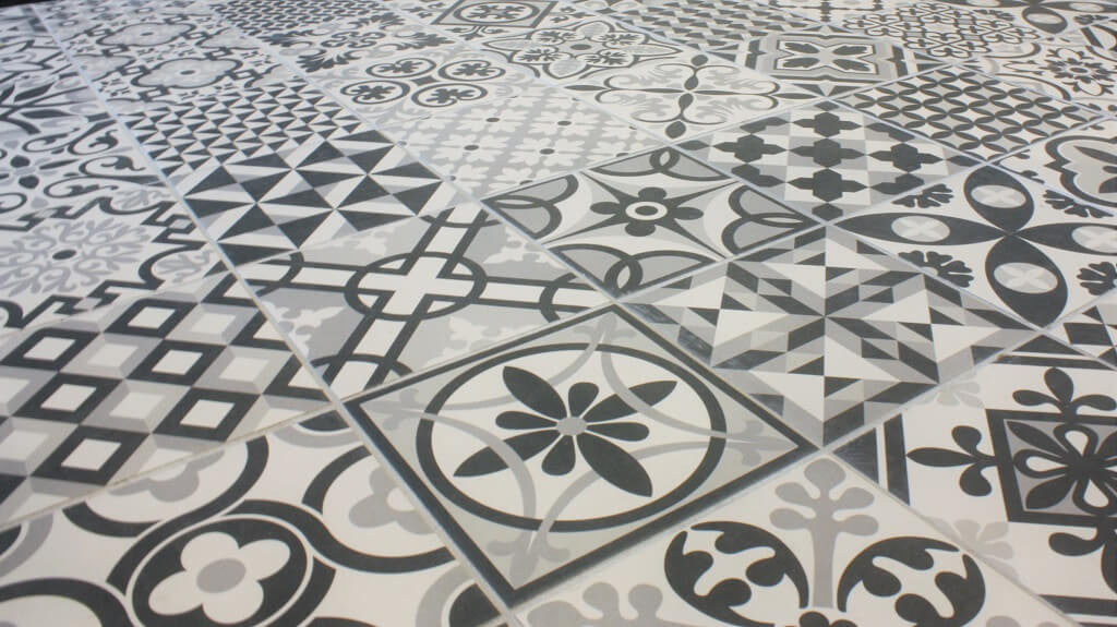 ... Heritage Black Floor Tile ...