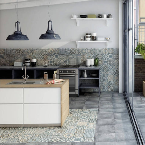 Heritage Porcelain Kitchen Floor Tiles with Patio
