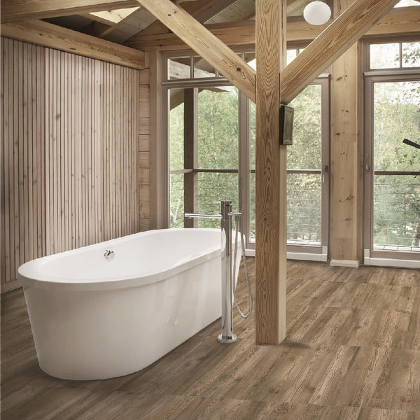 Katmandu Caoba Wood Effect Porcelain Tiles with Bath Tub