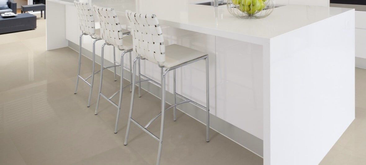 Rectified Floor Tiles in Modern Kitchen