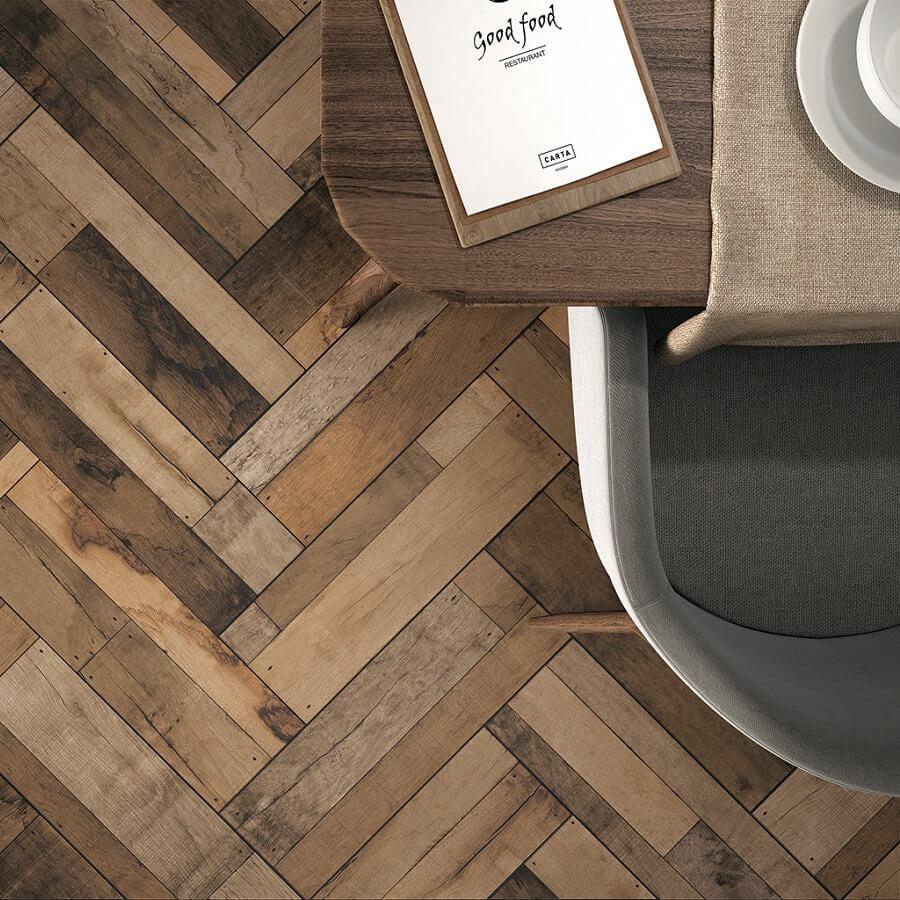Wood Effect Floor Tiles By Spain S Azulindus To Transform