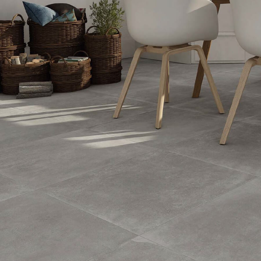 Grey floor tiles grey kitchen tiles styled by spains halcon ceramicas dailygadgetfo Gallery
