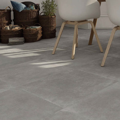 Moliere Large Grey Porcelain Kitchen Tiles