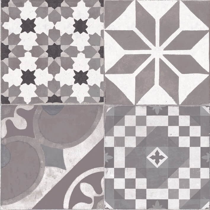 Vintage style floor tiles presenting the stunning for Carrelage 45x45 gris anthracite