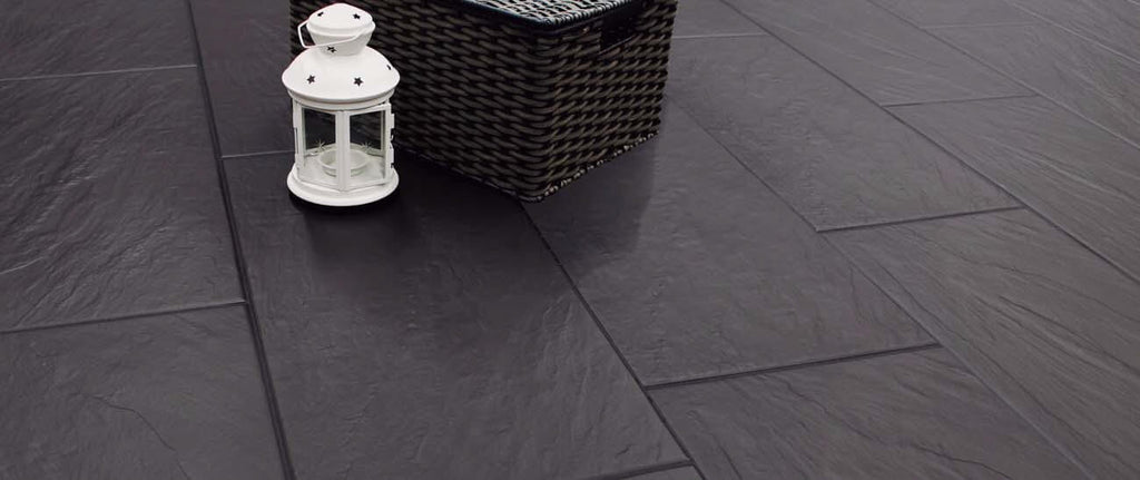Black Porcelain Floor Tiles with Black Grout
