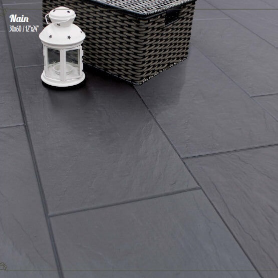 Oscano Graphite Stone Effect Ceramic Wall Floor Tile: Slate Effect Tiles In Beautiful Porcelain By Halcon Ceramicas
