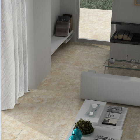 Neptuno Large Beige Floor Tiles in Modern Home