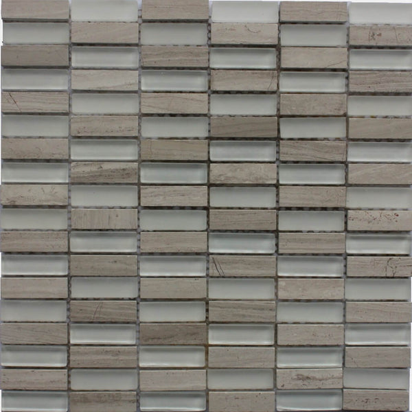Pavia Mosaic Kitchen Wall Tile - Grey Mosaic