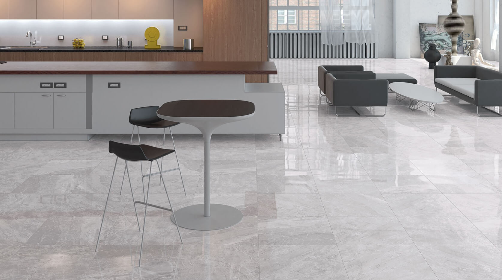 Marble effect floor tiles designed by cicogres of spain prestige natural marble effect floor tiles in kitchen dailygadgetfo Choice Image
