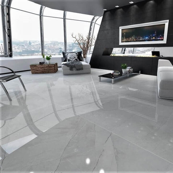 Royal Armany Marble Effect Floor Tiles in Luxury Penthouse