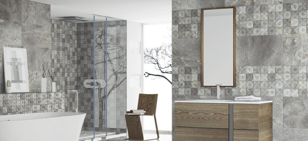 Bathroom Wall Tiles On Trend Grey Marble Effect Tile Devil