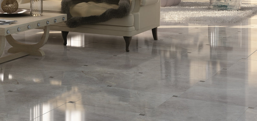 Marble effect floor tiles deliver the classic marble look for Classic kitchen floor tile