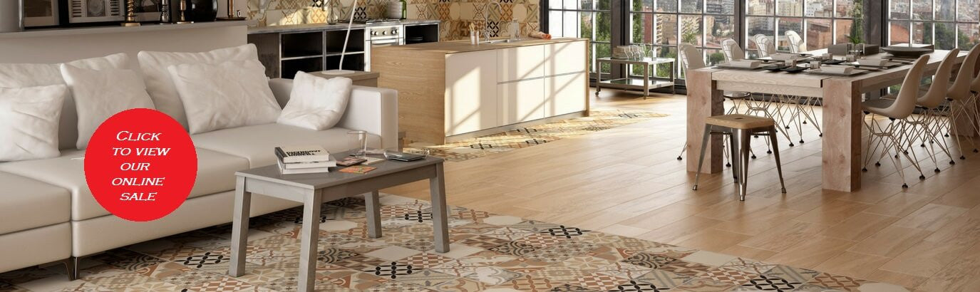 Moments Floor Tiles in Modern Apartment - On Sale