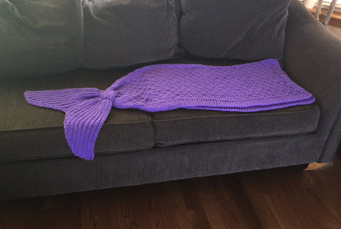 Mermaid Tail Blanket Knitting Pattern Childrens Size