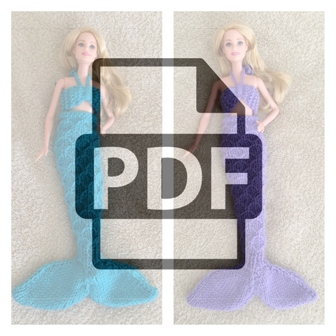 Mermaid Tail Blanket Barbie Knitting Pattern