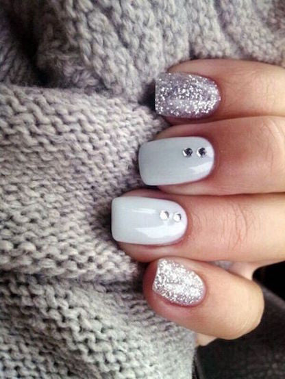 Uñas Decoradas Con Tonos Blanco Y Negro Easy Nails