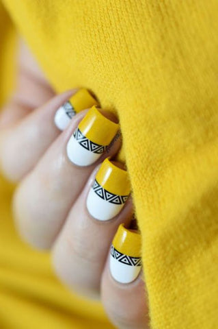 Unas Decoradas Con Tonos Blanco Y Negro Easy Nails