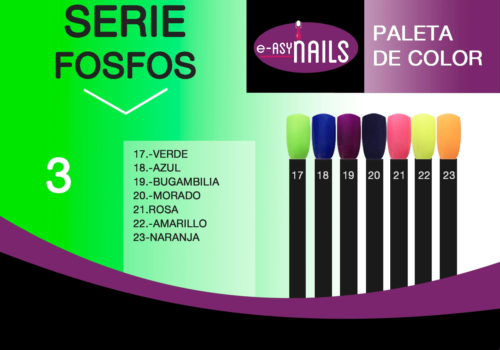 Easy Nails - Uñas de Acrílico Fosforescentes