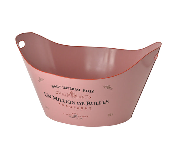 Tole bucket Pink Rose
