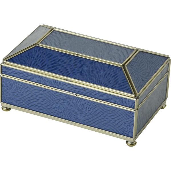 Cobalt Blue Lizard mini tea box