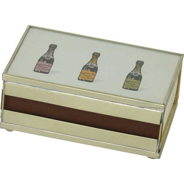 Three Champagne Bottles Matchbox Cover