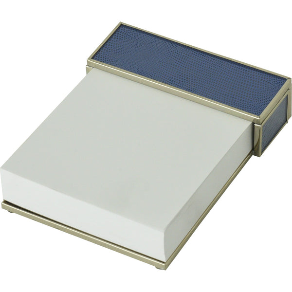 Cobalt Blue Lizard skin notepad