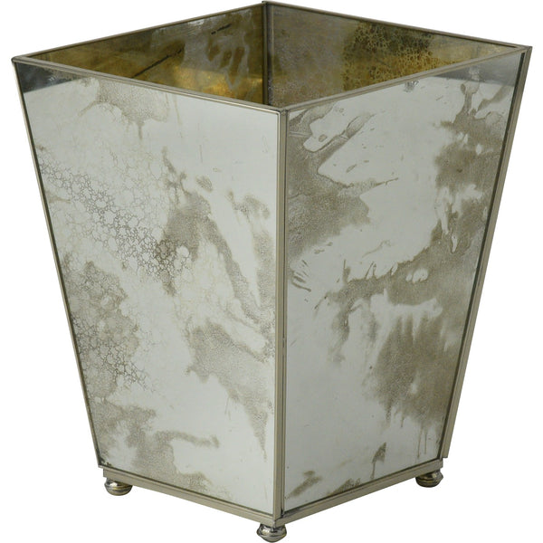 Antique Mirror Waste Bin
