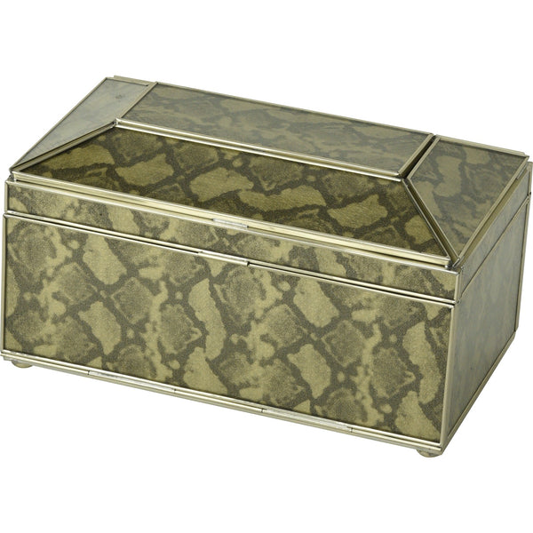 gold python skin tea box tissue