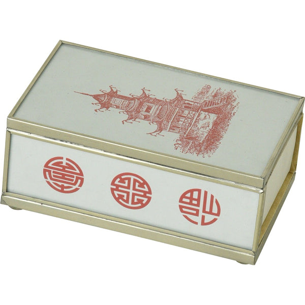Red Pagoda Matchbox Cover