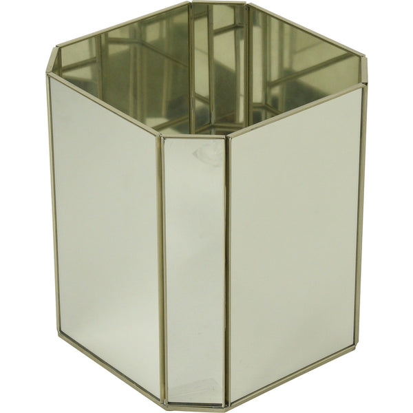 New Mirror Octagonal waste bin