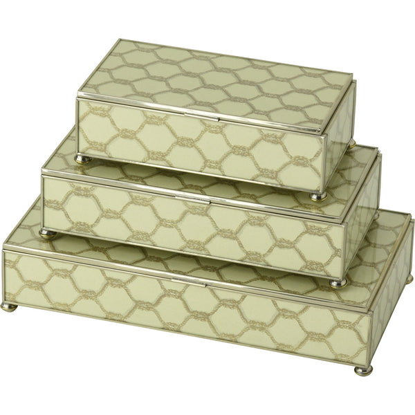 Gold Knot rectangular stacking 3 box set