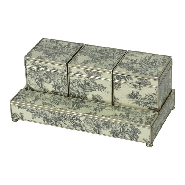 Black Toile Three box vanity set