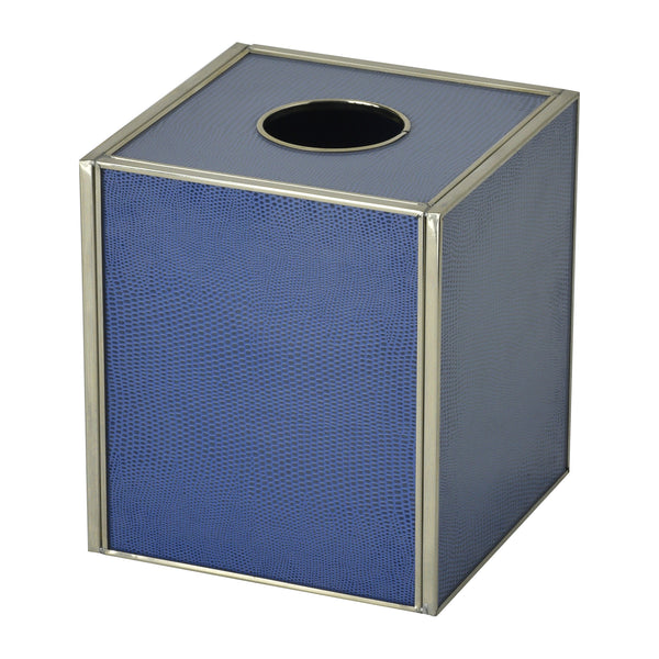 Cobalt Blue Lizard skin tissue box