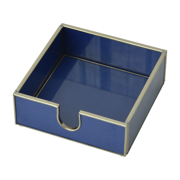 Cobalt Blue Lizard skin cocktail napkin holder