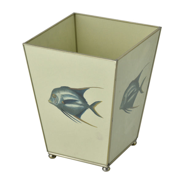 Blue Fish waste bin