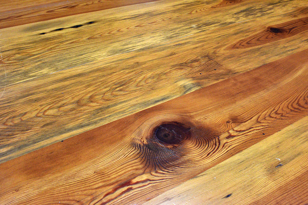 Reclaimed Heart Pine Wood Dining Room Table