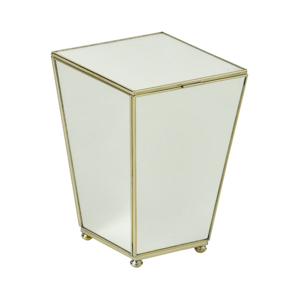 New Mirror mini waste bin with top