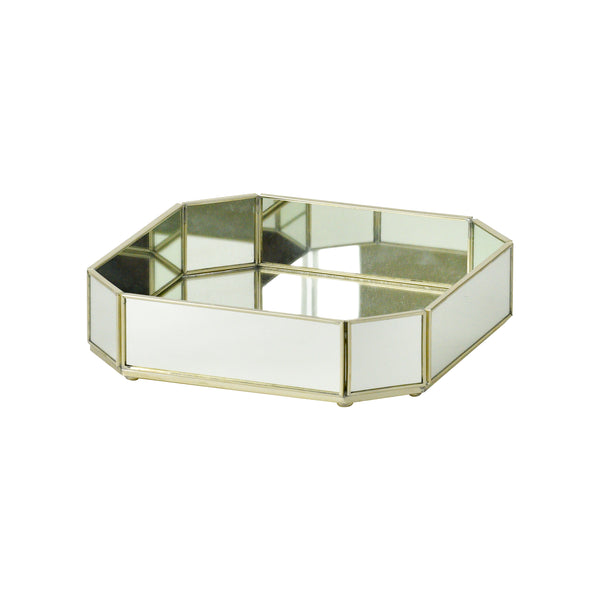 Small Octagonal New Mirror Tray