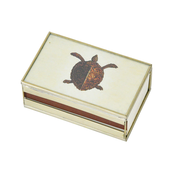 Brown Turtle Matchbox cover