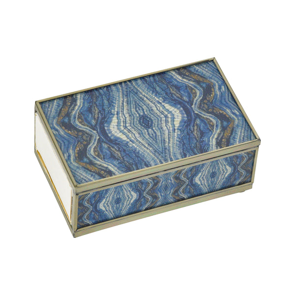 Blue Quartz Matchbox Cover
