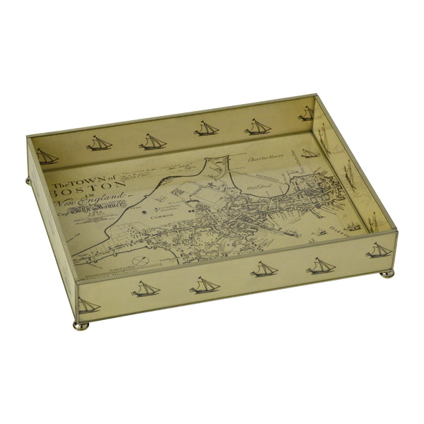 Boston Map Vanity Tray