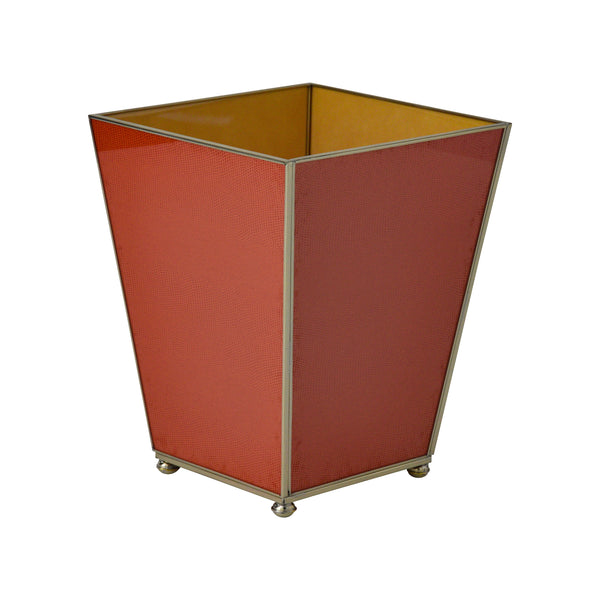 Orange Lizard Skin Waste Bin