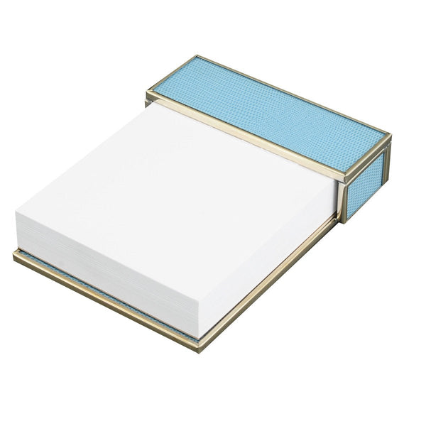 blue lizard skin notepad